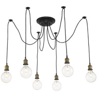 Trans Globe Lighting PND-2031-AB/ROB Cattail 6 Light 72 inch Antique Brass and Rubbed Oil Bronze Pendant Ceiling Light