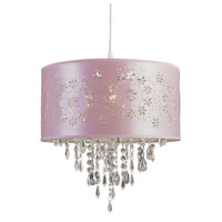 Trans Globe Lighting PND-607-PINK Desert Rose 1 Light 15 inch Pink Pendant Ceiling Light in Pink Fabric