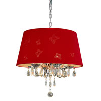 Trans Globe Lighting Modern Meets Traditional 3 Light Pendant in Red PND-610-RED photo thumbnail