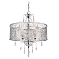 Trans Globe Lighting Contemporary 3 Light Chandelier in Polished Chrome PND-612-PC photo thumbnail