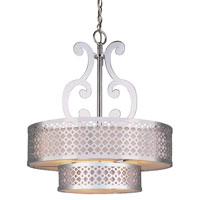 Trans Globe Lighting Contemporary 5 Light Chandelier in Polished Chrome PND-614-PC photo thumbnail