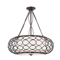 Trans Globe Lighting Signature 3 Light Pendant in Brown PND-821 photo thumbnail