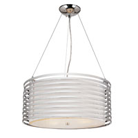 Contemporary 4 Light 20 inch Polished Chrome Pendant Ceiling Light