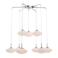 Trans Globe Urban Crush 9 Light Island Pendant in Polished Chrome PND-942