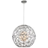 Trans Globe Lighting PND-968 Free Weld 1 Light 20 inch POLISHED CHROME Pendant Ceiling Light