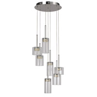 Spiral & Random Pendants LED 16 inch Polished Chrome Pendant Ceiling Light