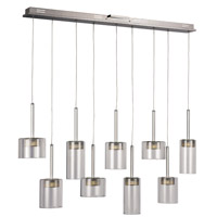 Spiral & Random Pendants LED 7 inch Polished Chrome Island Pendant Ceiling Light