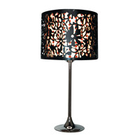 Trans Globe Daisy 1 Light Table Lamp in Polished Chrome RS-611-BK/RD
