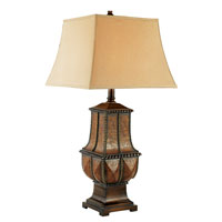 Trans Globe Lighting Ancient 1 Light Table Lamp in Aged Leather RTL-8768