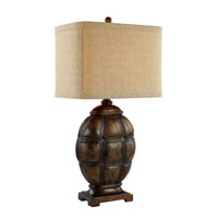 Ancient 32 inch 150 watt Faux Tortoise Shell Table Lamp Portable Light