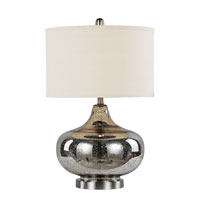 Mercury & Glass Lamps 26 inch 100 watt Brushed Nickel Table Lamp Portable Light