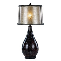 Trans Globe Contemporary Lamps 1 Light Table Lamp in Black Marble RTL-8792