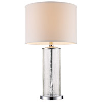 Tami 26 inch 60 watt Polished Chrome Table Lamp Portable Light