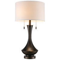 Mica 28 inch 60 watt Antique Brass Table Lamp Portable Light