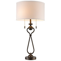 Mulholland 29 inch 60 watt Antique Brass Table Lamp Portable Light