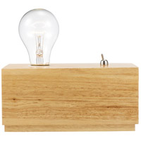 Larsen 4 inch 60 watt Raw Wood Desk Lamp Portable Light