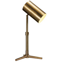 Hollywood 17 inch 60 watt Antique Brass Table Lamp Portable Light