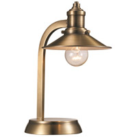 Liberty 13 inch 60 watt Antique Brass Table Lamp Portable Light