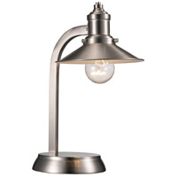 Liberty 13 inch 60 watt Brushed Nickel Table Lamp Portable Light