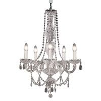Trans Globe Lighting Versailles 5 Light Chandelier in Silver VIC-5-SL photo thumbnail