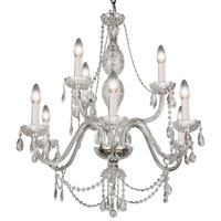 Trans Globe Lighting Versailles 9 Light Chandelier in Silver VIC-9-SL photo thumbnail