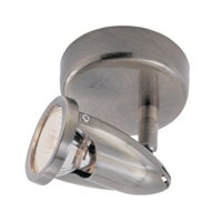 The Spot 1 Light Brushed Nickel Track Light Ceiling Light in Nickel Metal Spotlight
