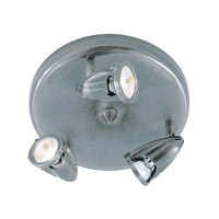 Trans Globe Lighting W-462-BN Stingray 3 Light 10 inch Brushed Nickel Flushmount Ceiling Light in Nickel Metal Spotlight
