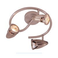 Trans Globe Spiral 3 Light Track Light in Rubbed Oil Bronze W-464-ROB