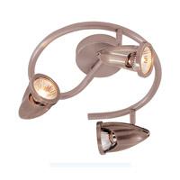 Trans Globe Lighting W-464-ROB Spiral 3 Light Rubbed Oil Bronze Track Light Ceiling Light in Bronze Metal Spotlight