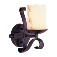 Trans Globe San Antonio 1 Light Wall Sconce in Black W-501-BK