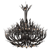 Trans Globe Lighting Versailles 119 Light Chandelier in Black ARABELLA-119-BK photo thumbnail