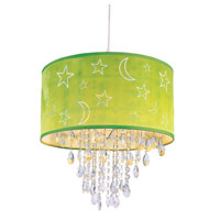 Trans Globe Moon and Stars 1 Light Pendant in Green PND-1001-GRN