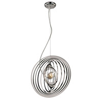 Galaxy Nebula 1 Light 16 inch Polished Chrome Pendant Ceiling Light