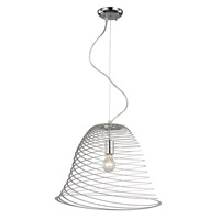 Trans Globe Spiral Nebula 1 Light Pendant in Polished Chrome PND-983