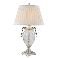 Trans Globe Mercury & Glass Lamps 1 Light Table Lamp in Silver RTL-8802
