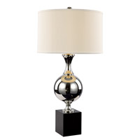 Contemporary Lamps 32 inch 60 watt Brushed Nickel Table Lamp Portable Light