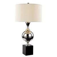 Trans Globe Lighting RTL-8803 Contemporary Lamps 32 inch 60 watt Brushed Nickel Table Lamp Portable Light