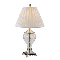 Mercury & Glass Lamps 30 inch 60 watt Silver Table Lamp Portable Light