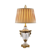 Dynasty 35 inch 60 watt Antique Brass Table Lamp Portable Light