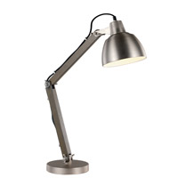Trans Globe Signature 1 Light Table Lamp in Satin Nickel and Wood RTL-8861