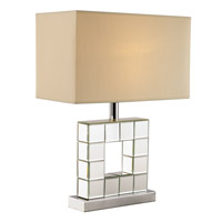 Contemporary Lamps 20 inch 100 watt Polished Chrome Table Lamp Portable Light