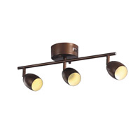 Trans Globe Signature 3 Light Track Light in Brushed Nickel W-813-ROB