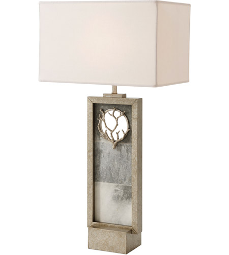 Theodore Alexander 2002-466 Corail 34 inch Mottled Silver Table Lamp Portable Light photo