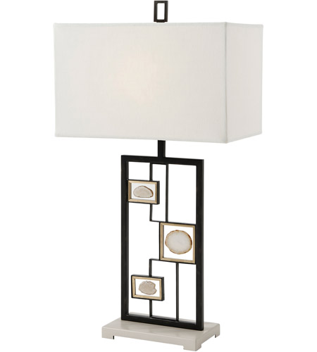 Theodore Alexander 2012-026 Polish 33 inch Soft Grey Painted Table Lamp Portable Light photo