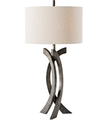 Theodore Alexander 2025-012 Parabola 32 inch Oxidised Aluminium Table Lamp Portable Light photo
