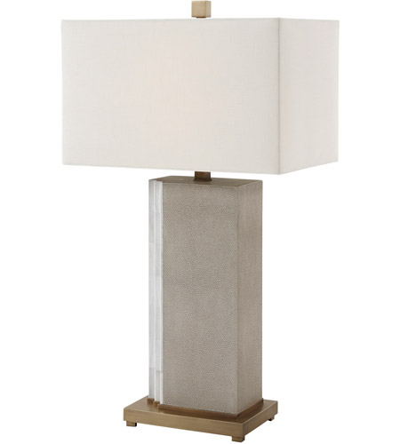 Theodore Alexander 2034-015 Tone II 33 inch Shagreen Leather Table Lamp Portable Light photo