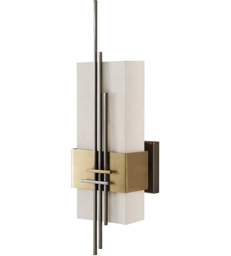 Theodore Alexander 2212-005 Grade 1 Light 7 inch Brass and Brushed Stainless Wall Light photo