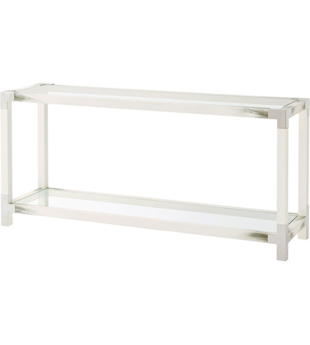 promo code 42245 1991a Theodore Alexander 5302-117 Cutting Edge 65 X 18 inch Longhorn White  Console Table