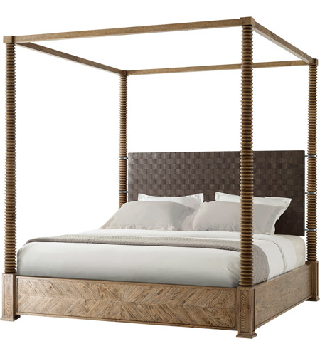 Theodore Alexander CB83004.C062 Weston Echo Oak Four Poster Bed, US King photo