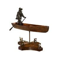 Boatman Mahogany and Brass Table Top Accessory